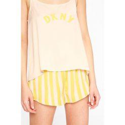 Dkny - Piżama. Różowe piżamy damskie DKNY, z nadrukiem, z materiału. W wyprzedaży za 239.90 zł.