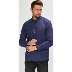 U.S. Polo - Koszula. Szare koszule męskie U.S. Polo, z bawełny, button down, z długim rękawem. W wyprzedaży za 339.90 zł.