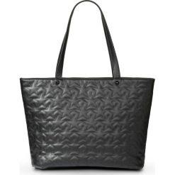 Torba shopper w pikowany wzór bonprix czarny. Czarne torebki shopper damskie bonprix. Za 74.99 zł.