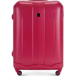 Walizka duża 56-3A-373-60. Niebieskie walizki damskie Wittchen, z gumy. Za 199.00 zł.