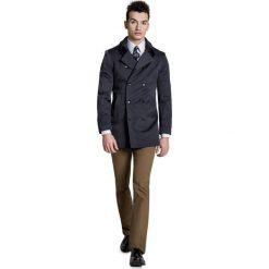 Płaszcz ALVARO PSSS000008. Czarne płaszcze męskie Giacomo Conti, w paski, z tkaniny, eleganckie. Za 599.00 zł.
