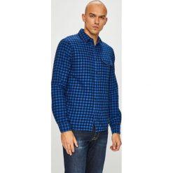 Calvin Klein Jeans - Koszula. Niebieskie koszule męskie Calvin Klein Jeans, w kratkę, z bawełny, z klasycznym kołnierzykiem, z długim rękawem. Za 349.90 zł.