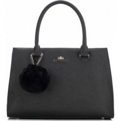 Torebka damska 87-4-709-1. Brązowe torebki do ręki damskie Wittchen, w paski, z futra. Za 479.00 zł.