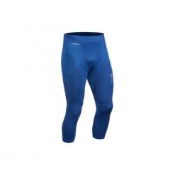 Legginsy narciarskie 900 męskie. Niebieskie legginsy sportowe męskie WED'ZE, z elastanu. Za 69.99 zł.