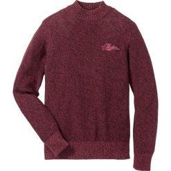 Sweter ze stójką Regular Fit bonprix czerwony rubinowy melanż. Swetry przez głowę męskie marki Giacomo Conti. Za 49.99 zł.