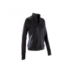 Bluza na zamek fitness kardio 900 damska. Czarne bluzy damskie DOMYOS, z elastanu. Za 119.99 zł.