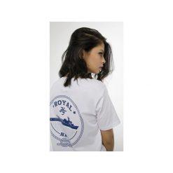 T-shirt Royal Navy. Białe t-shirty damskie Harp team, z nadrukiem, z materiału. Za 49.00 zł.