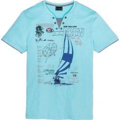 T-shirt 2 w 1 Regular Fit bonprix morski. T-shirty męskie marki Giacomo Conti. Za 44.99 zł.