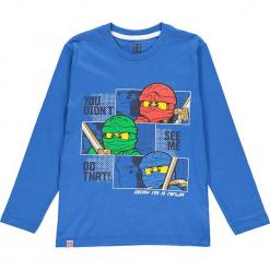 Koszulka w kolorze niebieskim. Niebieskie t-shirty dla chłopców marki Lego Wear Fashion, z bawełny, z długim rękawem. W wyprzedaży za 35.95 zł.