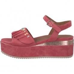 Tamaris Sandały Damskie 38 Różowy. Czerwone sandały damskie Tamaris, z aplikacjami, ze skóry. W wyprzedaży za 239.00 zł.