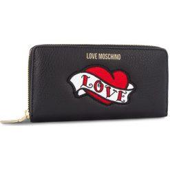 Duży Portfel Damski LOVE MOSCHINO - JC5596PP06KY100A Nero. Czarne portfele damskie Love Moschino, ze skóry. Za 659.00 zł.