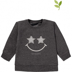 Bluza w kolorze szarym. Szare bluzy dla dziewczynek bellybutton, z aplikacjami, z bawełny. W wyprzedaży za 49.95 zł.