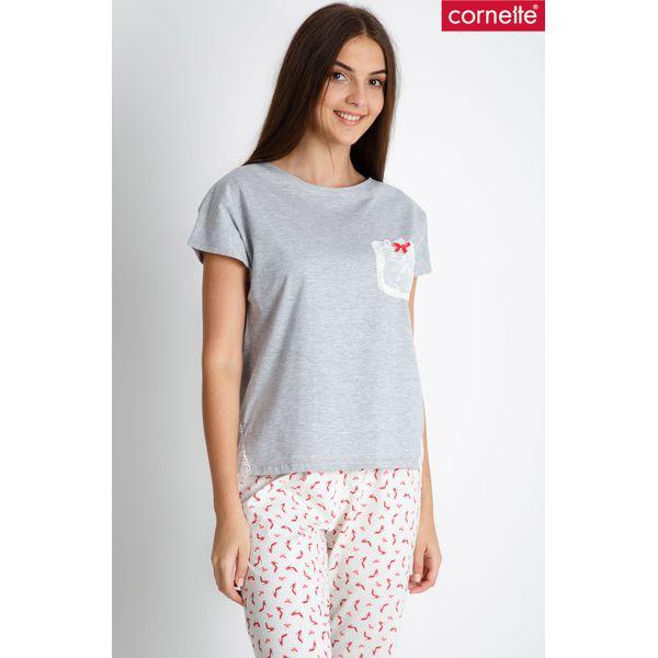 8e2a1758e0213c Bawełniana piżama z krótkim rękawem QUIOSQUE - Piżamy damskie ...