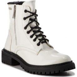 Trapery PEPE JEANS - Collie Suri PLS50336 Off White  803. Białe śniegowce i trapery damskie Pepe Jeans, z jeansu. W wyprzedaży za 269.00 zł.