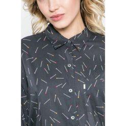 Levi's - Koszula. Brązowe koszule damskie Levi's, z bawełny, z klasycznym kołnierzykiem, z długim rękawem. W wyprzedaży za 199.90 zł.