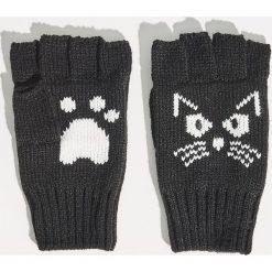 Rękawiczki bez palców - Czarny. Czarne rękawiczki damskie Sinsay. Za 19.99 zł.