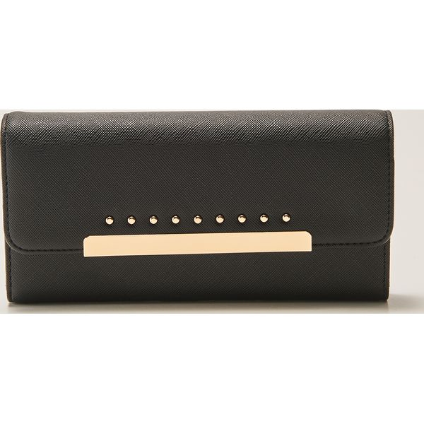 6674feb0f6817 Duży portfel z metalowym zapięciem - Czarny - Portfele damskie marki ...