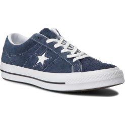 Tenisówki CONVERSE - One Star Ox 158371C Navy/White/White. Niebieskie trampki męskie Converse, z gumy. W wyprzedaży za 259.00 zł.