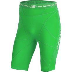Szorty kompresyjne - MS710139FN. Zielone krótkie spodenki sportowe męskie New Balance, z materiału. W wyprzedaży za 129.99 zł.