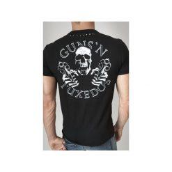 T-SHIRT GUNSLINGER. Czarne t-shirty męskie Guns&tuxedos, z klasycznym kołnierzykiem. Za 219.00 zł.