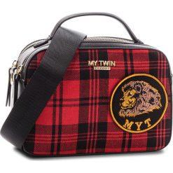 Torebka MY TWIN - Bauletto RA8TBP St Tartan Pap 03085. Czarne torebki do ręki damskie My Twin, z materiału. Za 749.00 zł.