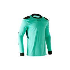 Koszulka bramkarska F100. Zielone bluzki z długim rękawem męskie KIPSTA, z materiału. Za 49.99 zł.
