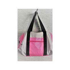 Sportowa torba Mili Fit Bag - pink/grey. Czerwone torby podróżne damskie Militu, w paski. Za 230.00 zł.