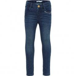 """Dżinsy """"Polly"""" - Skinny fit - w kolorze niebieskim. Niebieskie jeansy dla dziewczynek Name it Kids, z materiału. W wyprzedaży za 62.95 zł."""