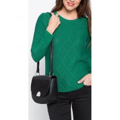 """Torebka """"Acco"""" w kolorze czarnym - 24 x 22 cm. Czarne torby na ramię damskie Scottage. W wyprzedaży za 72.95 zł."""