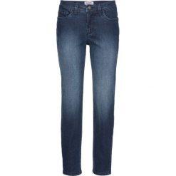 Miękkie dżinsy ze stretchem Classic, krótsze nogawki bonprix ciemnoniebieski. Jeansy damskie marki bonprix. Za 49.99 zł.