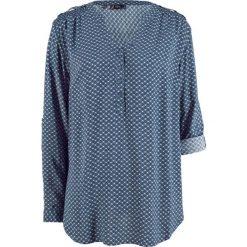 Tunika, długi rękaw bonprix indygo wzorzysty. Niebieskie tuniki damskie bonprix, z długim rękawem. Za 74.99 zł.