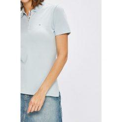 Tommy Jeans - Top. Szare topy damskie Tommy Jeans, z bawełny, z krótkim rękawem. W wyprzedaży za 179.90 zł.