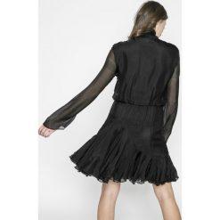 Miss Sixty - Sukienka. Szare sukienki damskie Miss Sixty, z aplikacjami, z jedwabiu, casualowe, z długim rękawem. W wyprzedaży za 539.90 zł.