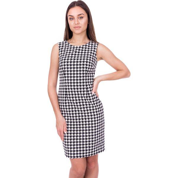 202b24661d Sukienka w pepitkę z zamkiem z tyłu BIALCON - Sukienki damskie marki ...