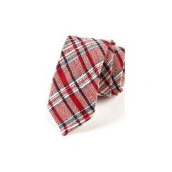 Krawat męski  SORIA. Czerwone krawaty i muchy Hisoutfit, z materiału. Za 129.00 zł.