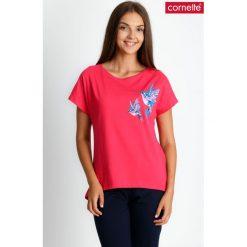 Trzyczęściowa piżama z ptakami ze spodniami 3/4 QUIOSQUE. Szare piżamy damskie QUIOSQUE, w kolorowe wzory, z bawełny, z krótkim rękawem. W wyprzedaży za 99.99 zł.