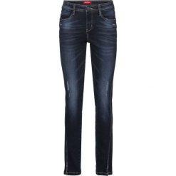 """Dżinsy """"authentik-stretch"""", krótsze nogawki SLIM bonprix ciemnoniebieski. Jeansy damskie marki bonprix. Za 89.99 zł."""