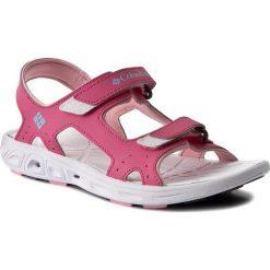 Sandały COLUMBIA - Youth Techsun Vent BY4566 Wild Geranium 656. Czerwone sandały dziewczęce Columbia, ze skóry ekologicznej. W wyprzedaży za 139.00 zł.