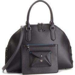 Torebka TRUSSARDI JEANS - Melissa Dome 75B00453 K300. Czarne torebki do ręki damskie TRUSSARDI JEANS, z jeansu. W wyprzedaży za 479.00 zł.