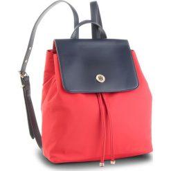 Plecak TOMMY HILFIGER - Dressy Nylon Backpac AW0AW05668 901. Czerwone plecaki damskie Tommy Hilfiger, z materiału. Za 449.00 zł.