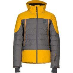 """Puchowa kurtka narciarska """"Cedar"""" w kolorze żółto-szarym. Szare kurtki snowboardowe męskie Maloja, z materiału. W wyprzedaży za 775.95 zł."""