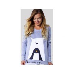 MATRYOSHKA Bear With Penguin - Bluza dresowa. Szare bluzy damskie Meet the llama, melanż, z bawełny. Za 109.00 zł.