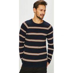 Review - Sweter. Szare swetry przez głowę męskie Review, z bawełny, z okrągłym kołnierzem. Za 179.90 zł.