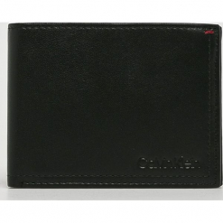 Calvin Klein - Portfel skórzany. Czarne portfele męskie Calvin Klein, z materiału. Za 299.90 zł.