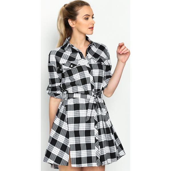 ac723dfc8c Czarno-Biała Sukienka Monochrome - Sukienki damskie marki Born2be