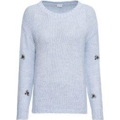 Sweter bonprix niebieski. Niebieskie swetry damskie bonprix, z dzianiny. Za 109.99 zł.