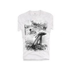 T-shirt UNDERWORLD Ring spun cotton Hurricane. Białe t-shirty męskie Underworld, z nadrukiem, z bawełny. Za 59.99 zł.