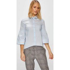 Trussardi Jeans - Koszula. Szare koszule damskie TRUSSARDI JEANS, z bawełny, casualowe, z klasycznym kołnierzykiem, z długim rękawem. W wyprzedaży za 299.90 zł.