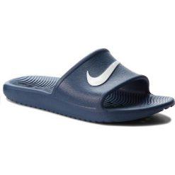 Klapki NIKE - Kawa Shower (GS) AQ0899 401 Navy/White. Niebieskie klapki damskie Nike, z tworzywa sztucznego. Za 79.00 zł.
