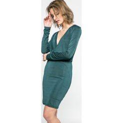 Vero Moda - Sukienka. Szare sukienki damskie Vero Moda, z dzianiny, casualowe, z długim rękawem. W wyprzedaży za 69.90 zł.